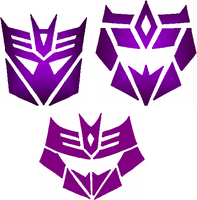 Unfinished Decepticon Symbols by avianis