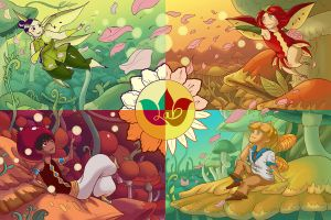Fruit Faeries Postcards by evui