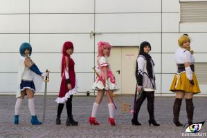 Puella Magi Madoka Magica Cosplay Group by DEATHNOTE---L