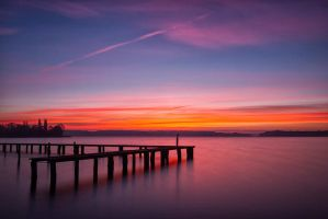 Watercolor Sunrise by Haufschild