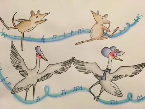 Bandicoot did ballet and brolga danced the blues by violetlim