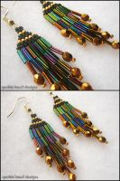 Mini Black and Gold Earrings by Natalie526