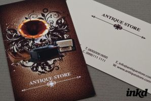 Antique Store Business Card by inkddesign