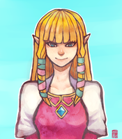 Skyward Sword Zelda by NightyNite