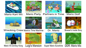 SpongeBob As Different Mario Games by KingBilly97