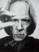PORTRAIT OF JOHN CARPENTER AUTOGRAPHED by BUMCHEEKS2