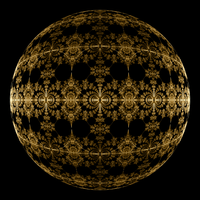 Golden Sphere by rosshilbert