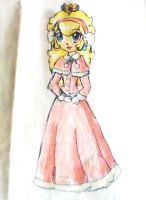 peach winter dress by ninpeachlover