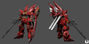 MSN-06S Sinanju by zipbox
