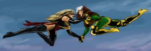Ms Marvel Vs Rogue By Nia90-d48fpyw by SuperheroinesIdol