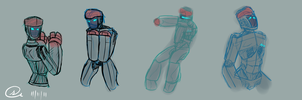 Atom Doodles :Real Steel: by I-want-some-Squib