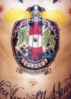Lighthouse tattoo by Hopeandglorytattoo