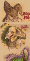 Faces on my carboard by Worm-love