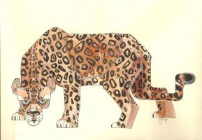 Jaguar Watercolor by monkeyoo