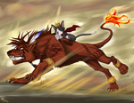 Commision - RedXIII Earth Rave by skipaway