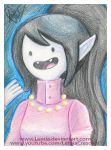 Crayola Crayon Marceline from Adventure Time by LemiaCrescent