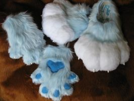 ~Blizzard~ feet and hands by HoneyspydeR