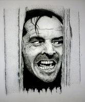 the shining (epic face) by andresarte