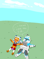 Ahsoka and Rex from Clone Wars by thehaydenclone