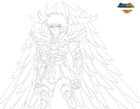 [lineart] God Cloth Sagittaire Decembre 2015 by Naruttebayo67
