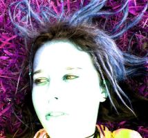 Lay in the purple grass. by brookeofbabylon