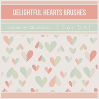 {SAI resources} Delightful Hearts Brushes by ASlovesLisa