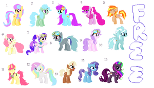 Free My little pony adoptables! (2 left open) by LilTavi