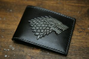 Game of Thrones House Stark Leather Bifold Wallet by Arnakhat