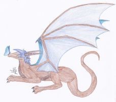 Blue Butterfly Dragon by mydragonzeatyou