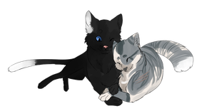 +Commission+ Shadowcliff and Aspenstar by Nixhil