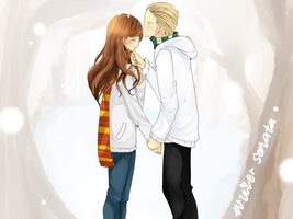 Hermione and Draco by ran4koak