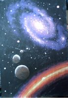 Galaxy and planets by CORinAZONe