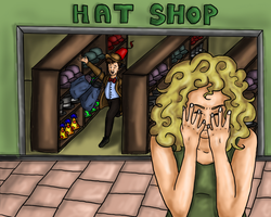 Shopping for Hats by Kettle-and-String
