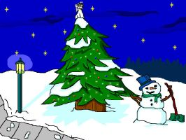 MS Paint Christmas Wallpaper by theworldiveknown
