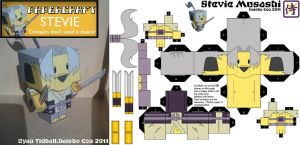 Papercraft: Stevie Musashi by PixelMagus