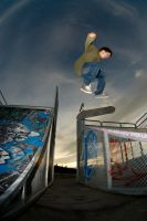 Kickflip over the transfer by turtlespooon