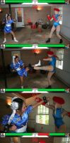 Chun-Li vs Cammy Round 2 by StreetFighterFan1