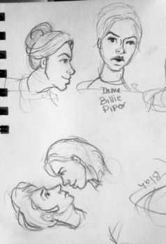 Sketchbook Doodly Faces 2 by pkmarie