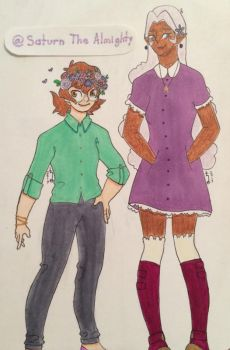 Pidge and Allura by SaturnTheAlmighty