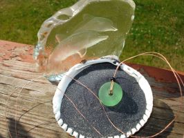 Sea glass necklace by SourKiss