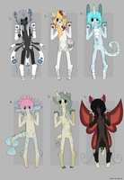 Anthro Adopts by TheseWeirdFishes