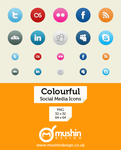 Colourful Social Media Icons by martin870