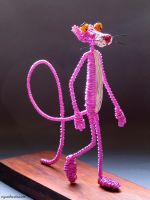Pink Panther in Wire by reynaldomolinawire