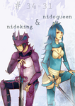 Nidoking-Nidoqueen Gijinkas by sheepsgobaaa