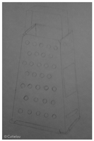 Unfinished Cheese Grater by cutielou