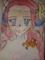 A quick doodle (Cure Felicet) -^^- by CatgirlLizzie1234