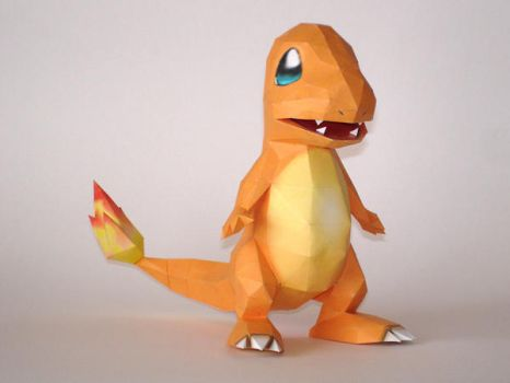 Charmander Papercraft by Skele-kitty