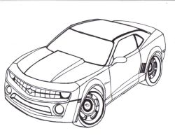 Chevy Camaro Line art by Mister-Lou