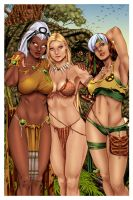 Savage Land Ladies by Paulo Siqueira _COLORS_ by carol-colors