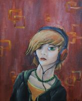 Headphones Girl by pockets1987
